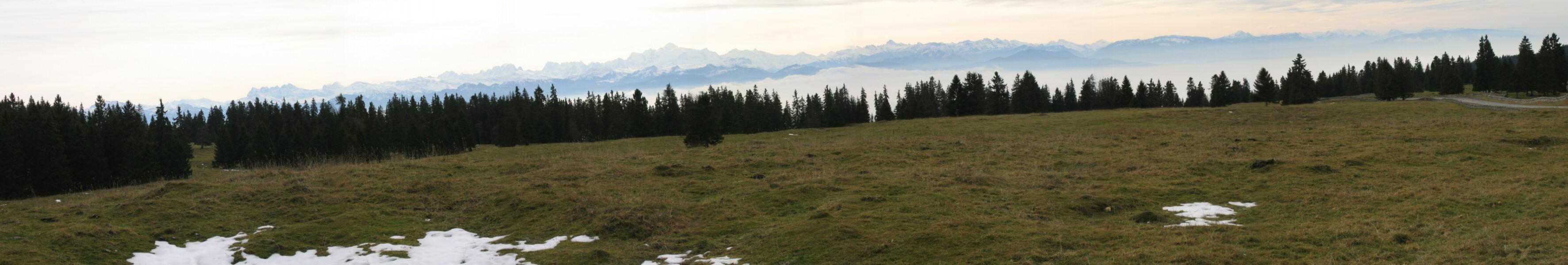 Eté indien dans le Jura Alpes